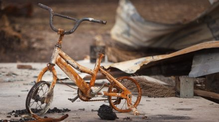Burnt bike